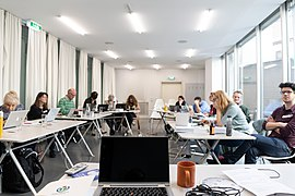 Wikipedia-Workshop Wikimedia Österreich Amnesty International Academy 2019-03 c.jpg