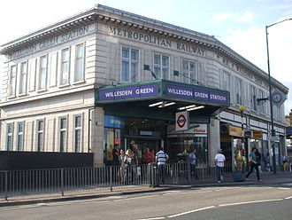 Willesden Green tube station - Main building viewed from the south-east