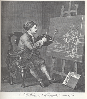 William Hogarth - Self portrait, paiting Comedy.png