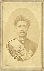 William Pitt Leleiohoku, photograph by Menzies Dickson, National Library of New Zealand.jpg