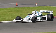 The Williams FW06 being raced at Silverstone in 2007.