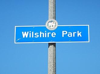 Wilshire Park, Los Angeles - Wilshire Park Signage