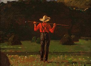 Pitchfork - Farmer with a Pitchfork, by Winslow Homer, 1874