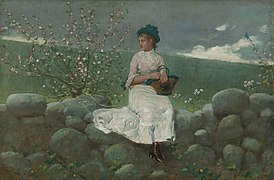 Winslow Homer - Peach Blossoms, 1878.jpg