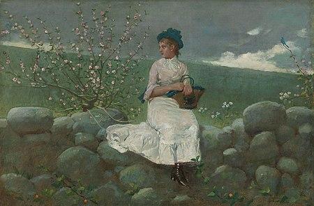 Winslow Homer - Peach Blossoms, 1878.jpg