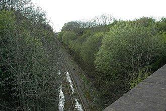 Winslow railway station - Proposed site of new station in April 2014.