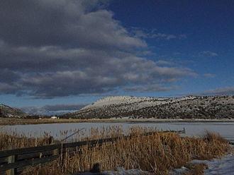 Nuss Lake - Nuss Lake, East ridge of Stukel Mountain in the background