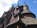 Wood Carvings on the roof of Heddal Stave Church.jpg