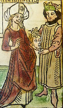 Woodcut illustration of Chiomara, wife of Orgiagon of Galatia - Penn Provenance Project.jpg