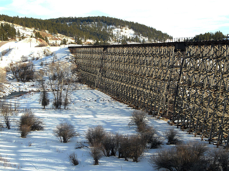 File:Wooden railroad trestle W side.jpg