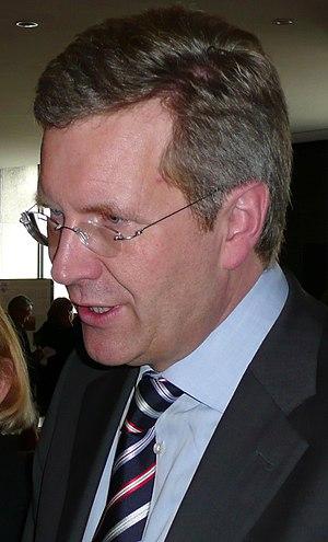 Deutsch: Christian Wulff, niedersächsischer Mi...