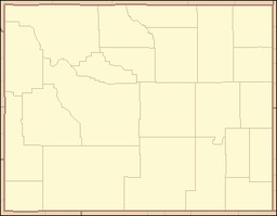 Location of Buffalo Bill State Park in Wyoming