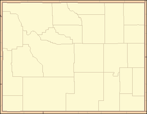 Great Divide Basin - Image: Wyoming Locator Map