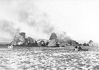 Y-34 Metz Airfield - Destroyed P-47s Operation Bodenplatte