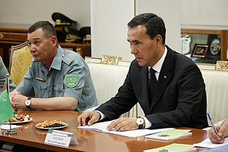 State Security Council of Turkmenistan - Colonel General Yaylym Berdiyev, the current secretary of the council and Minister of National Security.