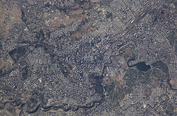 Yerevan from space.