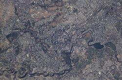 Yerevan from space.