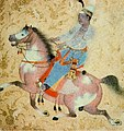 Young Prince Riding, attributed to the Paris Painter, Ahmadnagar, c. 1575 Ptivate coll.jpg