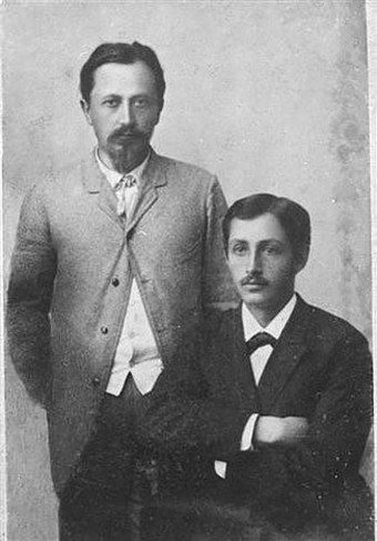 Ivan Bunin with his brother Yuli