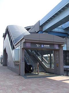 Shin-toyosu Station railway station in Koto, Tokyo, Japan