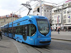 Crotram TMK 2200 tram (#2237) in Zagreb, Croat...