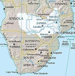 Zambezi River On Map Of Africa.Zambezi River Authority Wikipedia