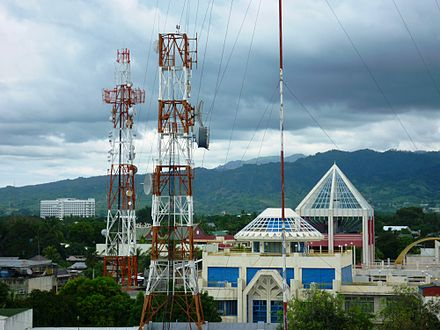 Communication towers in Zamboanga City. - Philippines
