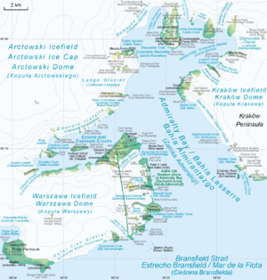 Admiralty Bay (South Shetland Islands) - Map of Admiralty Bay