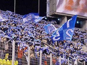 Petrovsky Stadium - Image: Zenit's fans anthem 1