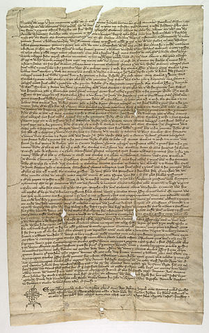 Canons Regular of the Holy Sepulchre - Witness statements of income of the monastery of the Church of the Holy Sepulchre, Miechów before the papal nuncio in 1349.