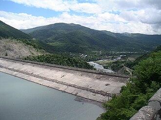 Aragvi River - Image: Zhinvali Dam