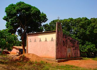 Ziguinchor - A church on the outskirts of Ziguinchor