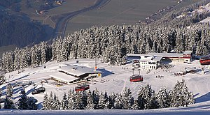 Zillertal Arena - View of the top station near the Rosenalm
