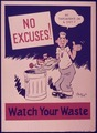"""No excuses^ Watch your waste."" - NARA - 515081.tif"