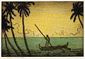 'Man in Outrigger, Hawaii' by Charles W. Bartlett, 1923-27, hand colored etching.jpg
