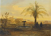 'Rome, a View of the Forum from a Terrace' by Edward Lear, 1841