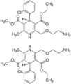 (±)-Amlodipine Enantiomers Structural Formulae.png