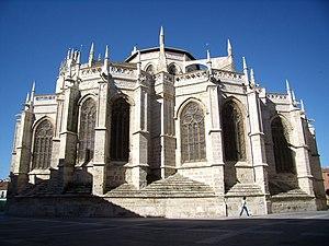 Imagen del ábside de la Catedral de Palencia.