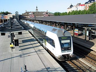 Østerport Station - A DSB regional train at Østerport station