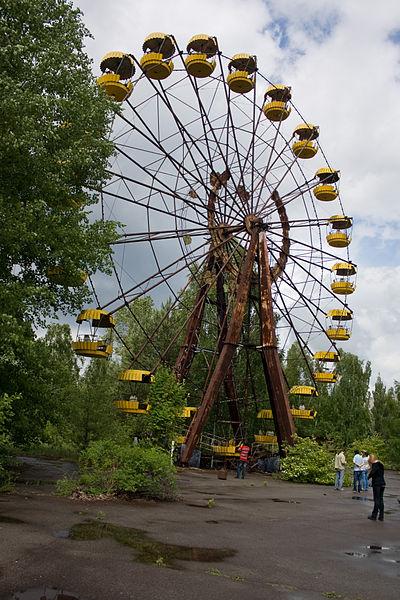 Ruské kolo v nikdy neotevřeném zábavním parku
