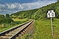Železniční trať 262 mezi stanicemi Boskovice a Knínice blízko Sudického dvora, okres Blansko.jpg