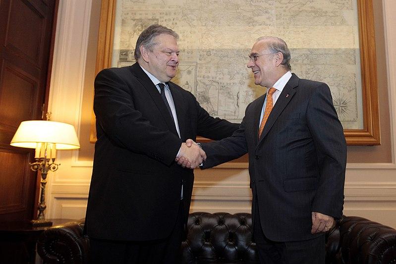 File:Συνάντηση Αντιπροέδρου Κυβέρνησης και ΥΠΕΞ Ευ. Βενιζέλου με Γενικό Γραμματέα ΟΟΣΑ A. Gurria (11082063996).jpg