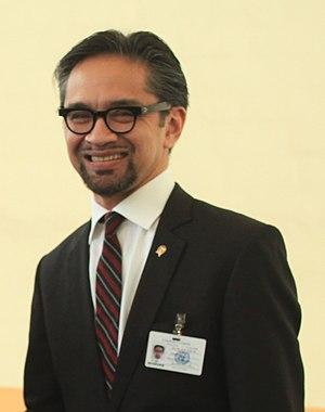 Συνάντηση ΥΠΕΞ κ. Δ. Δρούτσα με ΥΠΕΞ Ινδονησίας Dr. R.M. Marty M. Natalegawa (5029794319) (cropped).jpg