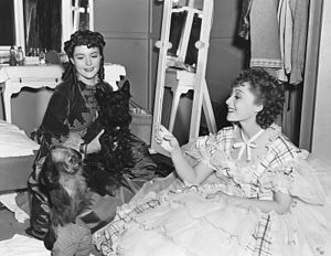 The Toy Wife - Barbara O'Neil and Luise Rainer on the set.