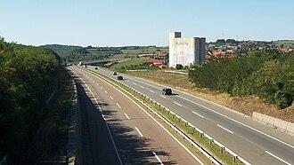 A1 motorway (Serbia) - Image: Ауто пут БГ НИ поред Ражња Belgrade Niš Highway near Ražanj