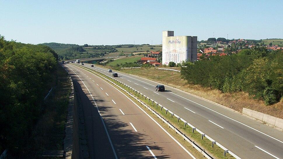 Ауто-пут БГ-НИ поред Ражња - Belgrade-Niš Highway near Ražanj