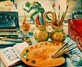 В. Дядинюк. Натюрморт с палитрой. 1943.jpg
