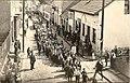 Зеница - 1928 - краљев рођендан, улица краља Петра I (данашња Титова), ретуширана разгледница.jpg