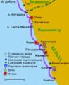 Индия. Маршрут армады Васко да Гама в 1502 году..png