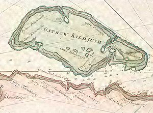Kildin Island - 1790 map of the island